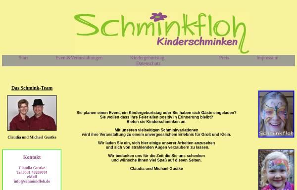 Vorschau von www.schminkfloh.de, Schminkfloh, Claudia Gustke