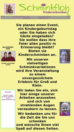 Vorschau der mobilen Webseite www.schminkfloh.de, Schminkfloh, Claudia Gustke