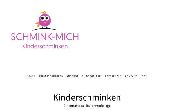 Vorschau von www.schmink-mich.de, Schmink-Mich, Tatjana Beichter