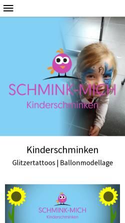 Vorschau der mobilen Webseite www.schmink-mich.de, Schmink-Mich, Tatjana Beichter