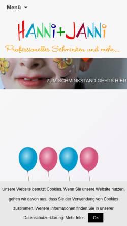 Vorschau der mobilen Webseite www.schminkshow.de, Schminkshow, Marianne Ohlenschläger