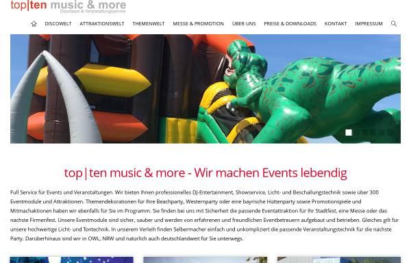 Vorschau von www.topten-disco.de, Top-Ten, Daniel Klöpper