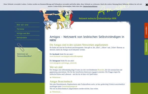 Vorschau von www.amigas.de, Amigas - Netzwerk lesbischer Unternehmerinnen NRW e. V.