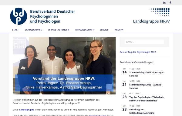 Vorschau von www.bdp-nrw.de, Berufsverband Deutscher Psychologinnen und Psychologen e.V., Landesgruppe NRW