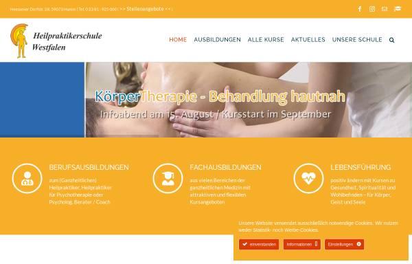 Vorschau von www.heilpraktikerschule-westfalen.de, Heilpraktikerschule Westfalen