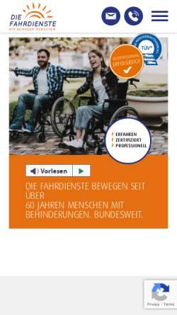 Vorschau der mobilen Webseite www.diefahrdienste.de, Die Fahrdienste