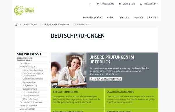 Vorschau von www.goethe.de, Goethe-Institut: Prüfungsbeschreibungen