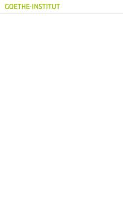 Vorschau der mobilen Webseite www.goethe.de, Goethe-Institut: Prüfungsbeschreibungen