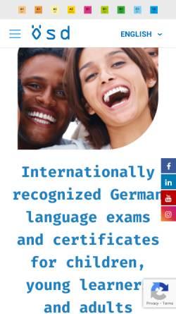 Vorschau der mobilen Webseite www.osd.at, Österreichische Sprachdiplom Deutsch (ÖSD)