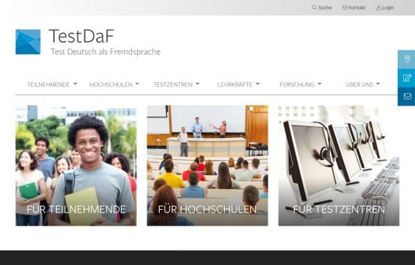 Vorschau von www.testdaf.de, TestDaF-Institut