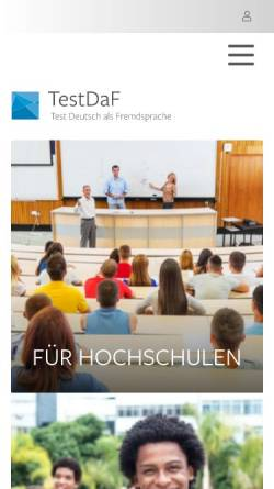 Vorschau der mobilen Webseite www.testdaf.de, TestDaF-Institut