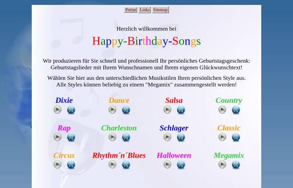 Vorschau von www.happy-birthday-songs.de, Happy Birthday Songs