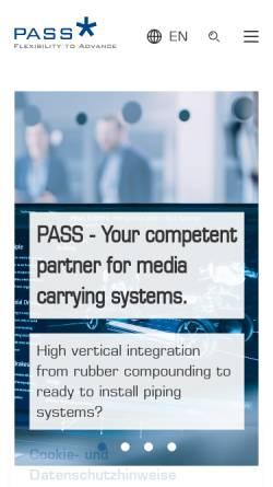 Vorschau der mobilen Webseite www.pass.de, Pass GmbH & Co. KG