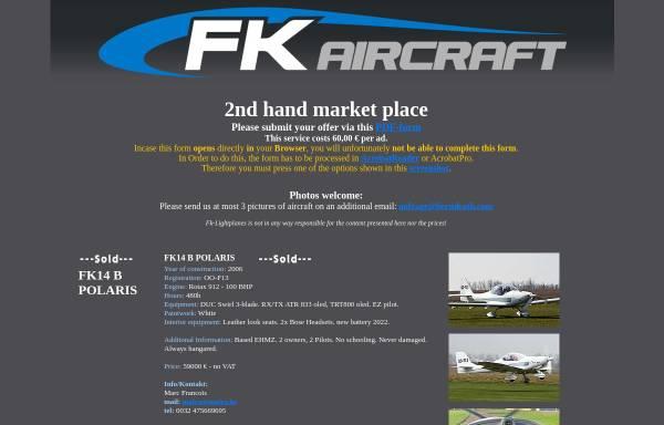 Vorschau von www.fk-leichtflugzeuge.de, Fk-Leichtflugzeuge - Speyer