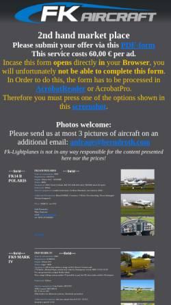 Vorschau der mobilen Webseite www.fk-leichtflugzeuge.de, Fk-Leichtflugzeuge - Speyer