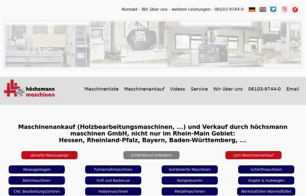 Vorschau von www.ultra-light.de, Hoechsmann Maschinen GmbH