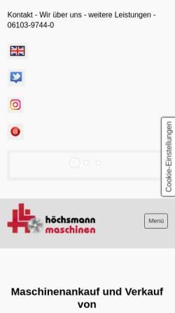 Vorschau der mobilen Webseite www.ultra-light.de, Hoechsmann Maschinen GmbH