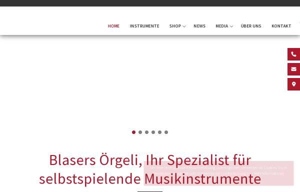 Vorschau von www.blasers.ch, Blasers Örgeli AG