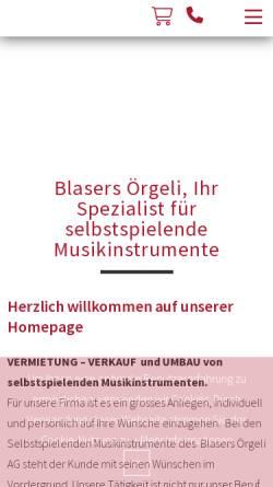 Vorschau der mobilen Webseite www.blasers.ch, Blasers Örgeli AG