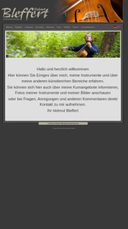Vorschau der mobilen Webseite www.helmut-bleffert.de, Helmut Bleffert