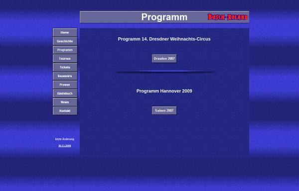 Vorschau von www.busch-roland.de, Circus Busch-Roland