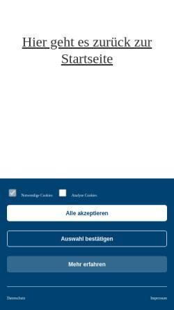 Vorschau der mobilen Webseite www.solingen.de, Stadt Solingen