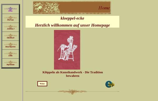 Vorschau von www.kloeppel-ecke.de, Klöppel-Ecke