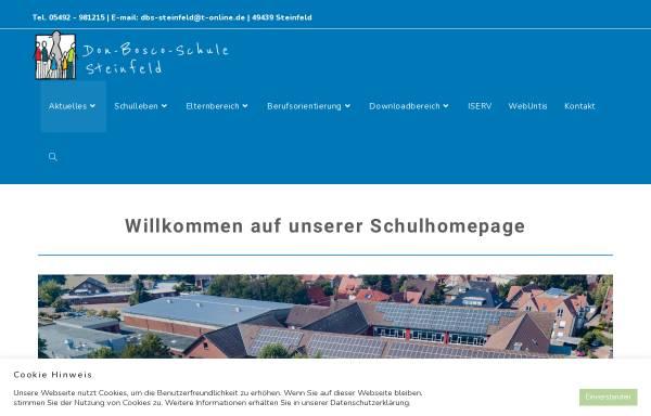 Vorschau von dbs-steinfeld.de, Don Bosco Schule