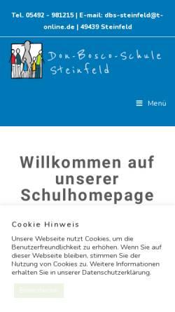 Vorschau der mobilen Webseite dbs-steinfeld.de, Don Bosco Schule