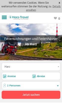 Vorschau der mobilen Webseite www.harz-travel.de, Harz-Travel