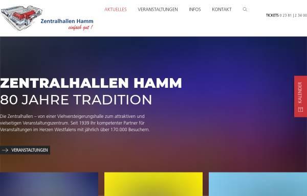 Vorschau von www.zentralhallen.de, Zentralhallen Hamm