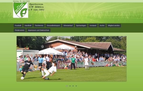 Vorschau von www.gw-muehlen.de, Sportverein Grün-Weiß Mühlen