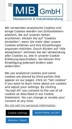 Vorschau der mobilen Webseite www.flowmax.de, mib Messtechnik und Industrieberatung GmbH