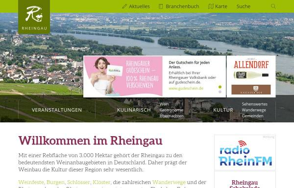 Vorschau von www.rheingau.de, Der Rheingau