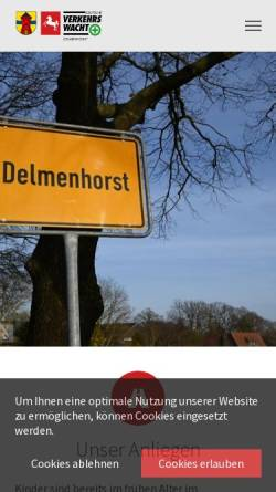 Vorschau der mobilen Webseite verkehrswacht-delmenhorst.de, Verkehrswacht-Delmenhorst