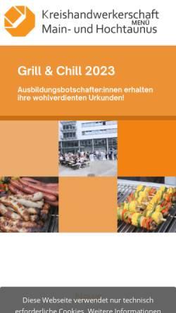 Vorschau der mobilen Webseite www.kh-htk.de, Kreishandwerkerschaft
