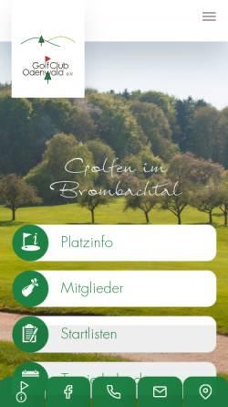 Vorschau der mobilen Webseite www.golfclub-odenwald.de, Golfclub Odenwald