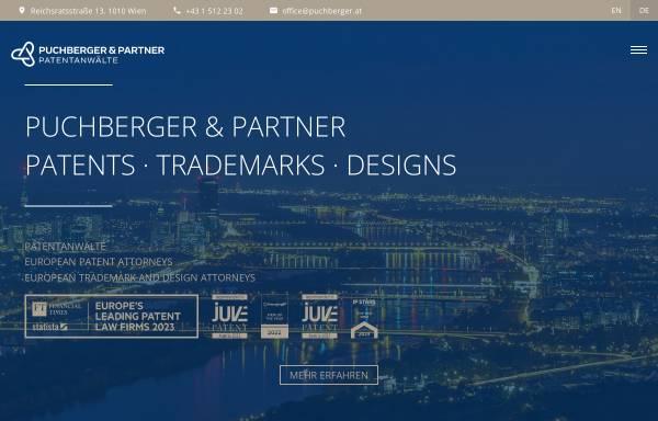 Vorschau von www.puchberger.at, Patentanwälte Puchberger, Berger & Partner
