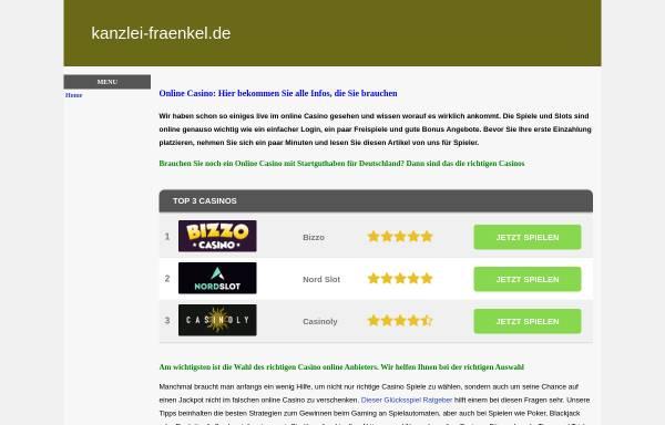 Vorschau von www.kanzlei-fraenkel.de, Rechtsanwälte Fraenkel, Faust und Herbold
