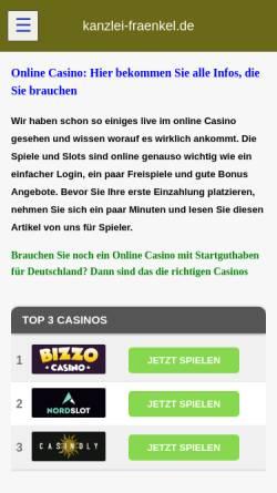Vorschau der mobilen Webseite www.kanzlei-fraenkel.de, Rechtsanwälte Fraenkel, Faust und Herbold