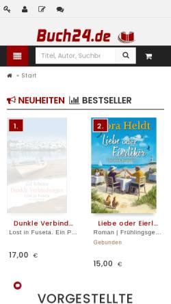 Vorschau der mobilen Webseite www.buch24.de, Buch24 GmbH