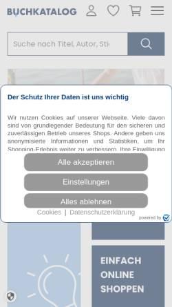 Vorschau der mobilen Webseite www.buchkatalog.de, Buchkatalog-Koch, Neff & Oetinger & Co. GmbH