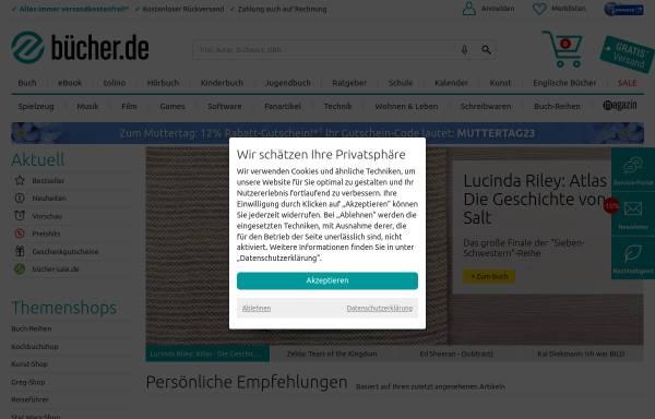 Vorschau von www.buecher.de, Buecher.de GmbH & Co. KG