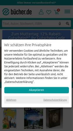 Vorschau der mobilen Webseite www.buecher.de, Buecher.de GmbH & Co. KG