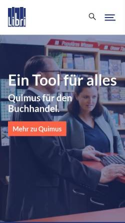 Vorschau der mobilen Webseite www.libri.de, Libri.de GmbH