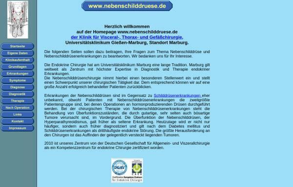 Vorschau von www.nebenschilddruese.de, Nebenschilddruese
