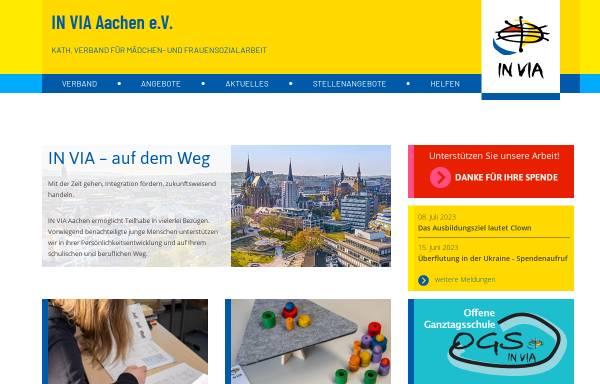Vorschau von www.invia-aachen.de, IN VIA Aachen e.V.