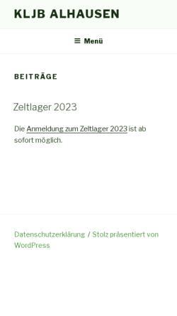 Vorschau der mobilen Webseite www.kljb-alhausen.de, KLJB Alhausen