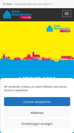 Vorschau der mobilen Webseite www.fdp-beckum.de, FDP Beckum