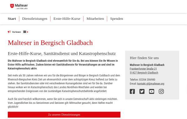 Vorschau von www.malteser-gl.de, Malteser Hilfsdienst e.V. Bergisch Gladbach